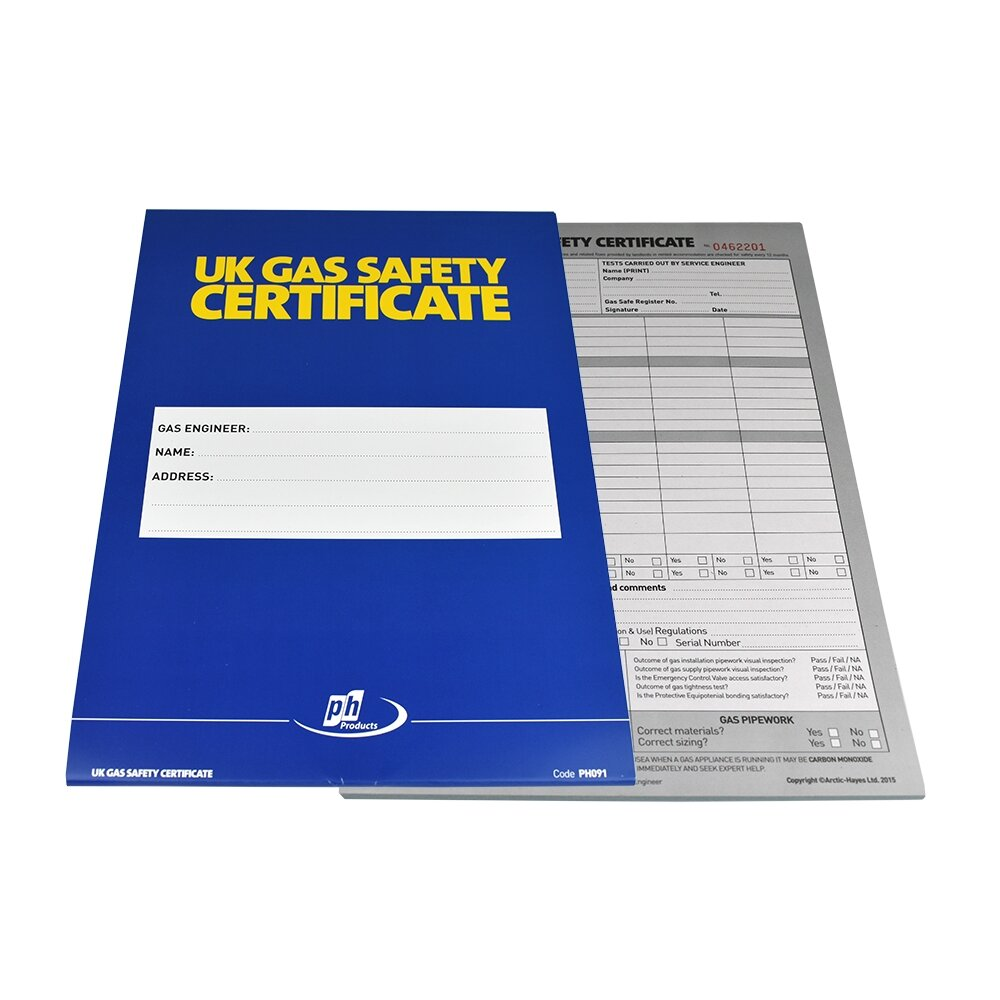 Gas Safety / Landlord Certificate Pad A4