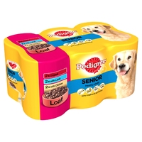 Pedigree Cans Senior 400g 6 pack x 4