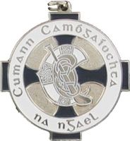 34mm Camogie Medal - Silver / Navy