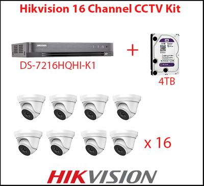 Hikvision 16 Camera Turbo CCTV Kit