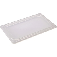 Genware Gastro Lid Polypropylene Clear 1/4 Size