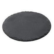 Slate Round Platter Dia 23cm Dia Carton of 15
