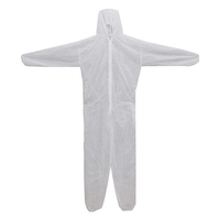 DISPOSABLE OVERALL COVER SUIT LARGE WHITE