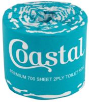 Coastal 700 Sheet Toilet Rolls 2 Ply  x 48 Ctn