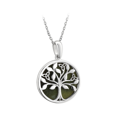 S/S MARBLE TREE OF LIFE PENDANT