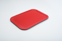 Laminated Fast Food 375 x 265 Non Slip Tray Red