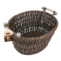 Oblong Willow Basket with metal handle 55x44cm