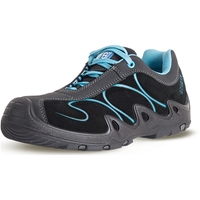No8 SkyTrack Lace Up Composite Toe Women's Safety Shoe Sky Blue