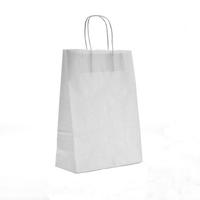 Twist Handle Carrier Bag White 320mm x 140mm x 420mm