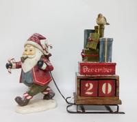 Christmas Calendar Santa Pulling Sleigh