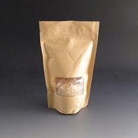 150g Kraft stand up pouch with window.