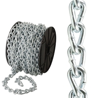 PREMIER 5 MTR 3 X 22 MM STEEL NICKLE PLATED TWISTED CHAIN