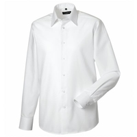 Russell Gents Long Sleeved Oxford Shirt