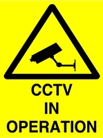 Heavy Duty Large PVC CCTV sign