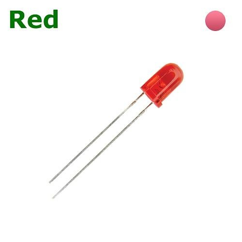 TKL-DD5R   LED DIODE 5 MM RED - THROUGH HOLE DIFFUSED BAG OF 1KPCS