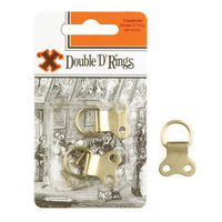 X Brass Double D Rings 2 Pack Blister