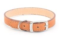 """Ancol Heritage Leather Collar Tan 16"""" x 1"""