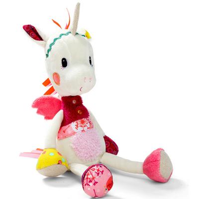 cloe-up of Louise the unicorn