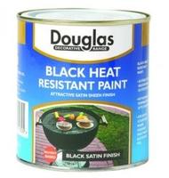 DOUGLAS HEAT RESISTANT PAINT BLACK 250ML