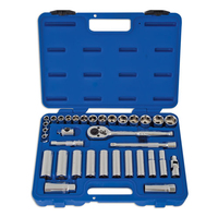 3/8inch Drive Std. and Deep Socket Set 34 Pieces