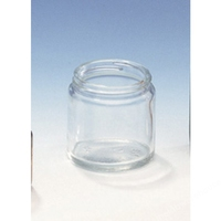 Ointment Jars Clear Glass No Cap 250ml P