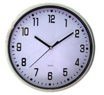 12in 24HR DIAL WHITE CLOCK