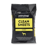 Animology Clean Sheets 20 Wipe Sachet Display Box x 6
