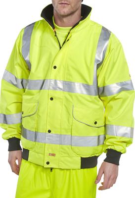 Premium Hi-Vis Yellow Bomber Jacket