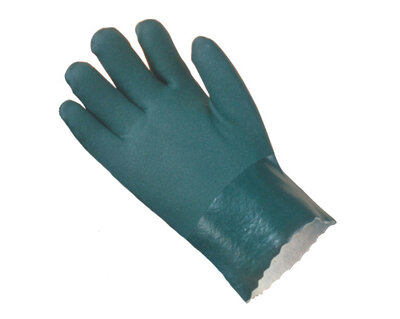 """REDBACK Green Double Dipped PVC Gauntlet Glove 11"""" Size 10 (Pair)"""