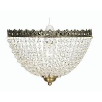 Ekon Glass Beaded Pendant Shade Antique Brass