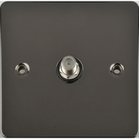 Flat Plate Black Nickel SAT Socket BLACK|LV0701.0570