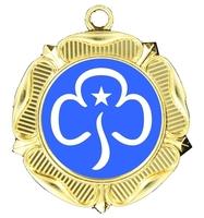 40mm Gold Rose Polished Backed Medal
