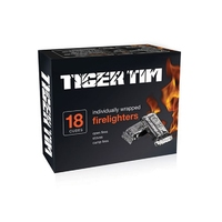 Tiger Tim 18 Individually Wrapped Firelighters