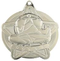 50mm Silver Star Soccer Medal