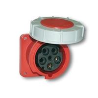 CEE UIV4636SRU Wall Socket 63A 400V 5P Red IP67