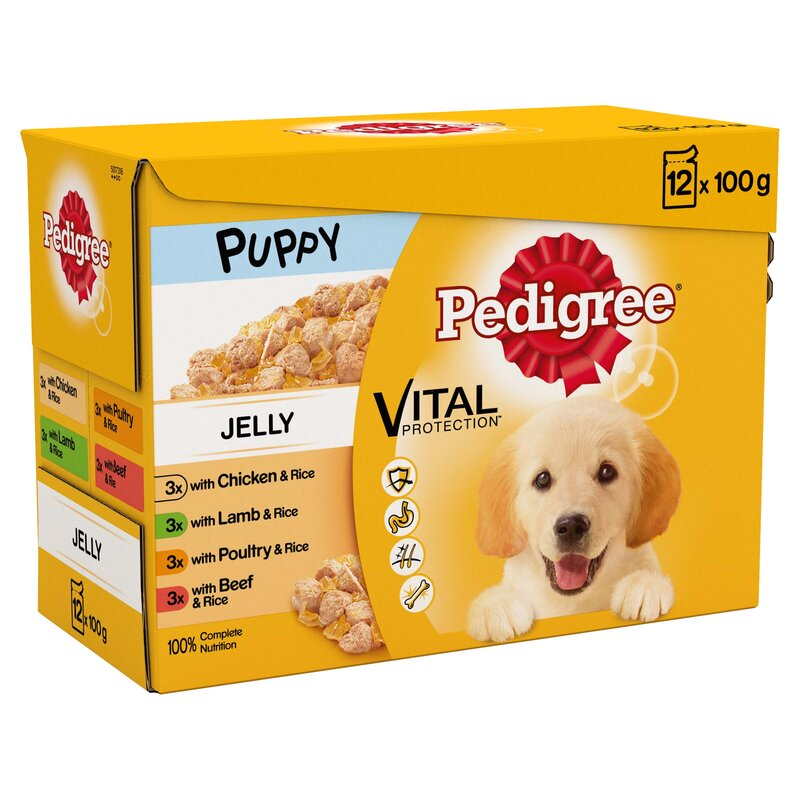Pedigree Pouch Puppy Jelly 4 x 12 x 100g