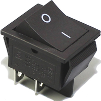 Switch | Rocker Switch DPST 4 Pins ON-OFF 16A 250VAC BLACK