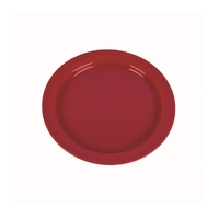 Plastic 24cm Flat Plate Red