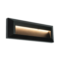 Rectangular led bricklight Severus landscape indirect IP65 2W warm white  black finish