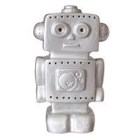 Heico children's lamp - silver robot