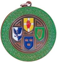 50mm Bronze Enamelled Irish C'Ship Medallion