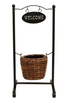 Welcome Planter Round Stand Small