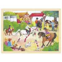 Wooden jigsaw puzzle - Horse Show