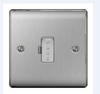 NEXUS BRUSHED STEEL 13A FUSED CONNECTION UNIT UNSWITCHED