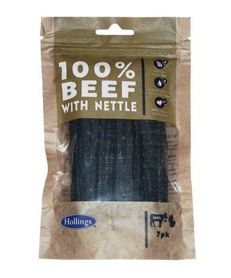 Hollings 100% Natural Beef Small Bar with Nettle 7pk x 10