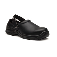 Toffeln Safety Lite Clog Black With Steel Top Cap Size 38