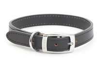 """Ancol Heritage Leather Collar Black Size 6 22"""" x 1"""