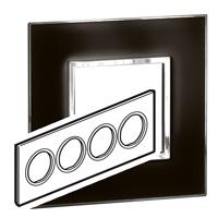 Arteor (British Standard) Plate 8 Module Round Mirror Black | LV0501.0341
