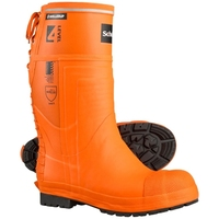 Skellerup Schoen Forestry Pro Level 4 Chainsaw Boot Plain Sole Orange/Blue