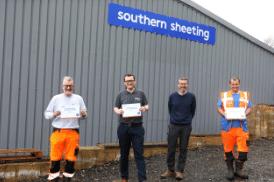 Celebrating long service at Southern Sheeting